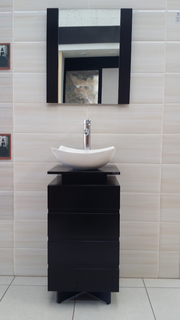 Mueble Para Baño Color Chocolate Lavabo De Marmol 78×40 Paty  $