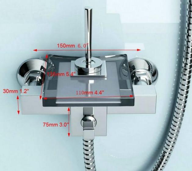Regadera moderna para ba o tipo cascada faucet 6 990 for Regadera de bano precio