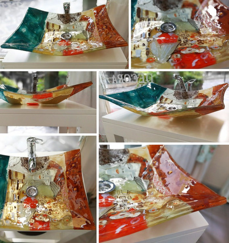 para baños bacha vidrio