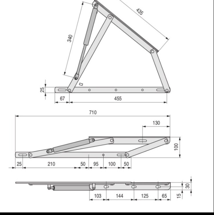 Bisagras para base de cama abatible elevable 1 380 - Mecanismo reloj pared ikea ...