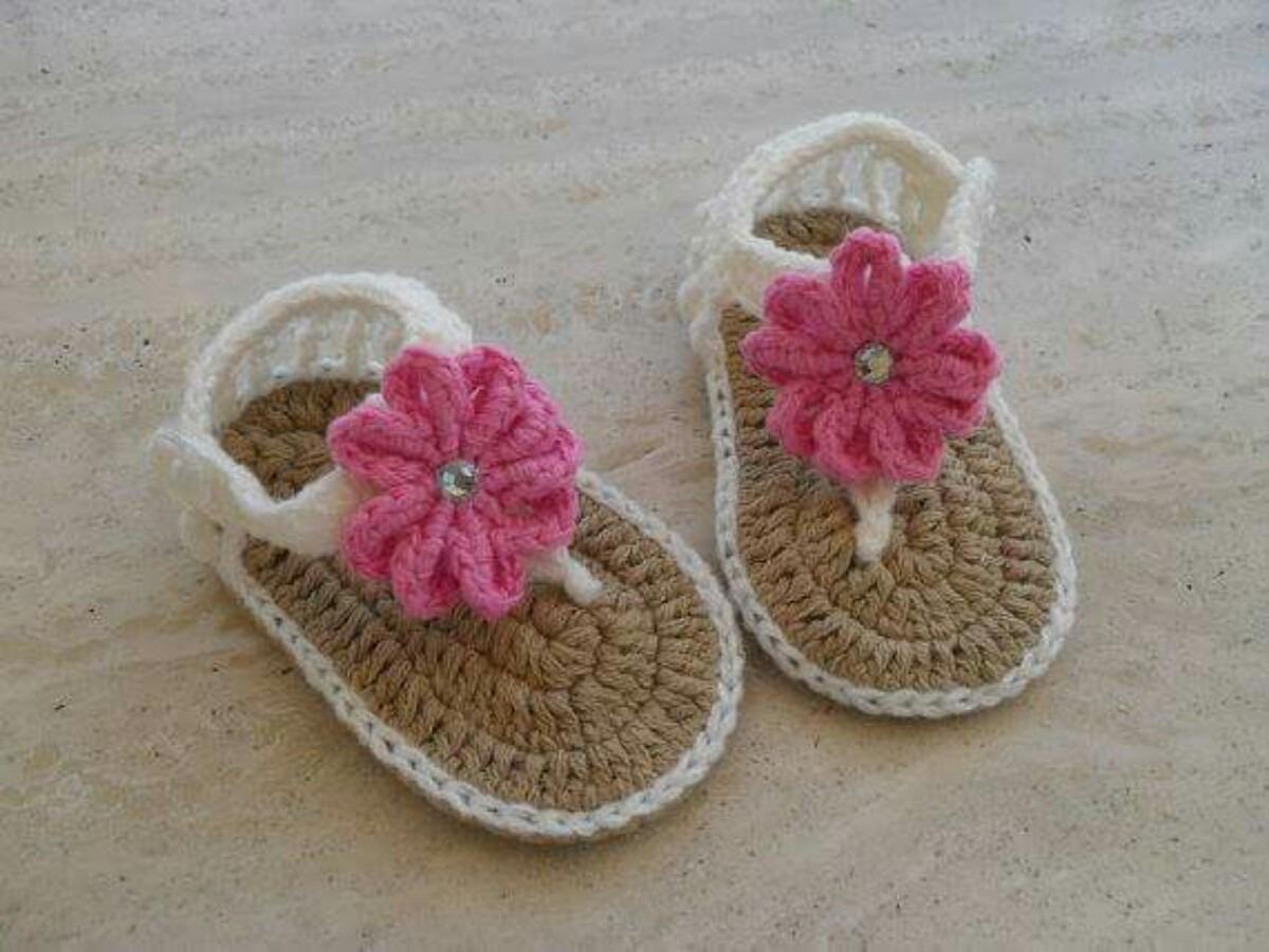 718c51c7 Sandalias, Calzado Para Bebe, Tejidas En Crochet Más Modelos ...