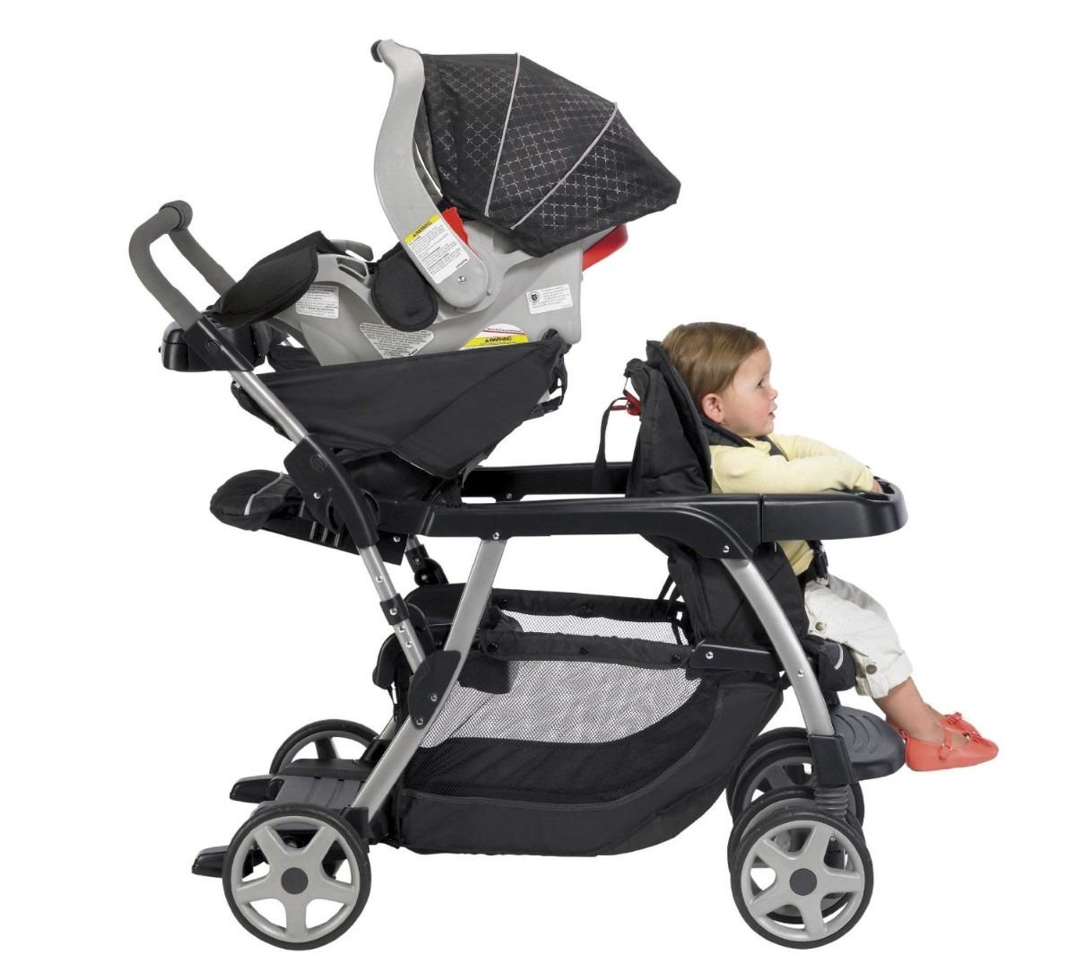 carreola para bebe graco doble ready2grow hm4 5 en mercado libre. Black Bedroom Furniture Sets. Home Design Ideas
