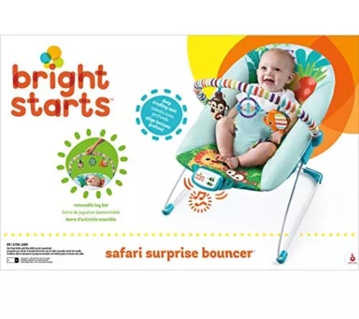 187996e0e bouncer mecedora para bebé bright starts safari surprise · mecedora para  bebé · para bebé mecedora