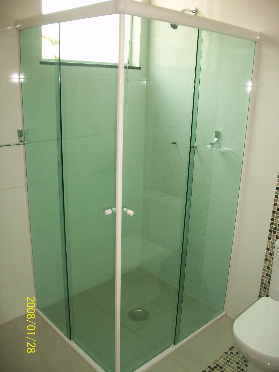 Kit Para Box De Banheiro Em L 90 X 90 8 Cores S Vidro  R$ 189,00 em Mercado -> Armario Para Box De Banheiro