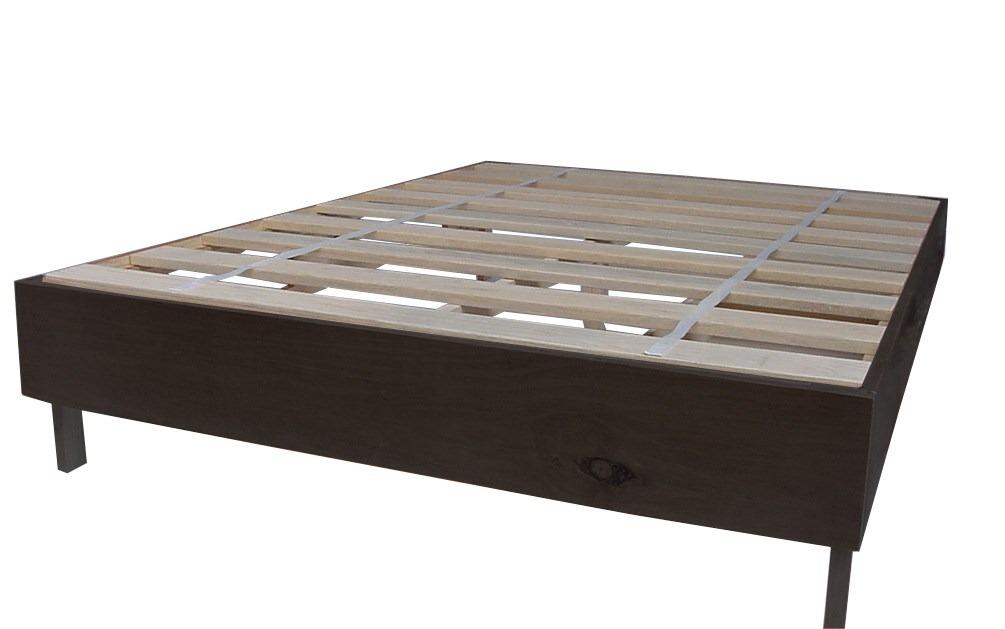 Base para cama en madera matrimonial individual o q s for Medidas de colchon matrimonial