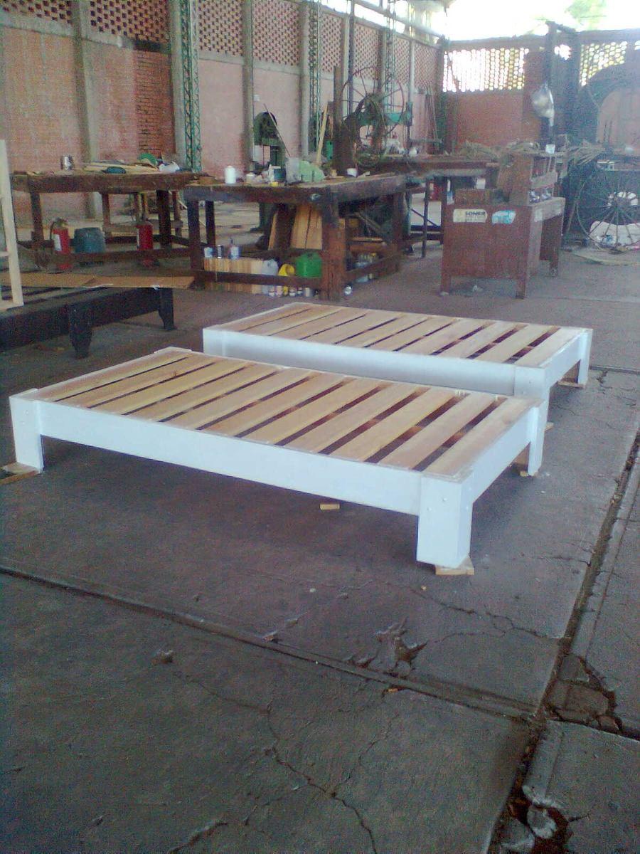 Bases de madera para cama 1 en mercado libre for Cama canguro matrimonial