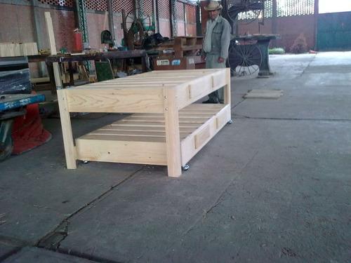 Bases de madera para cama canguro individual 2 for Cama canguro matrimonial