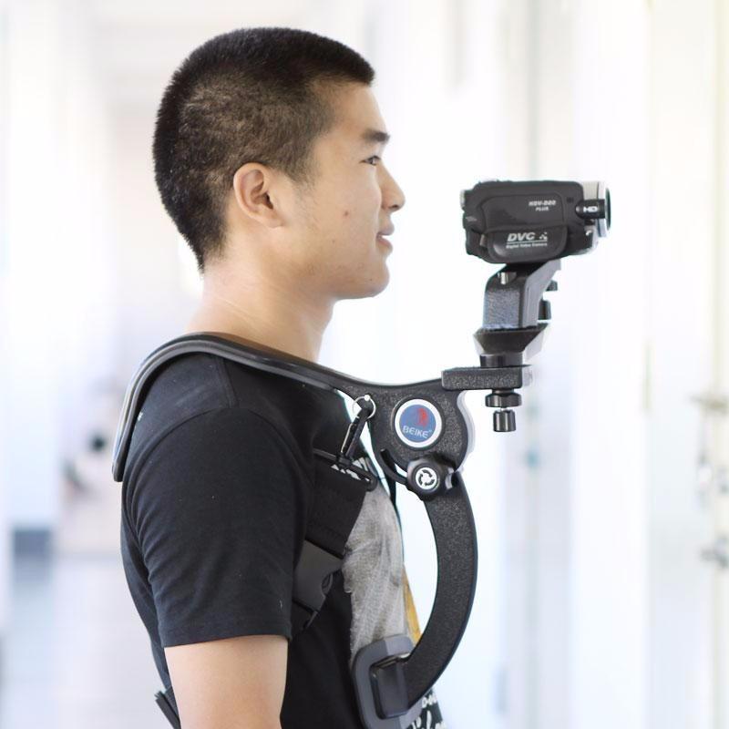 Soporte estabilizador de hombro para camara y videocamara for Estabilizador de camara
