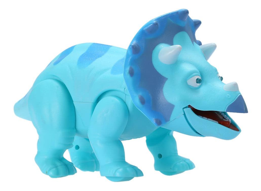 Juguete Para Y Movimiento Azul Led Real Dinosaurio Caminar tsQChrBdx