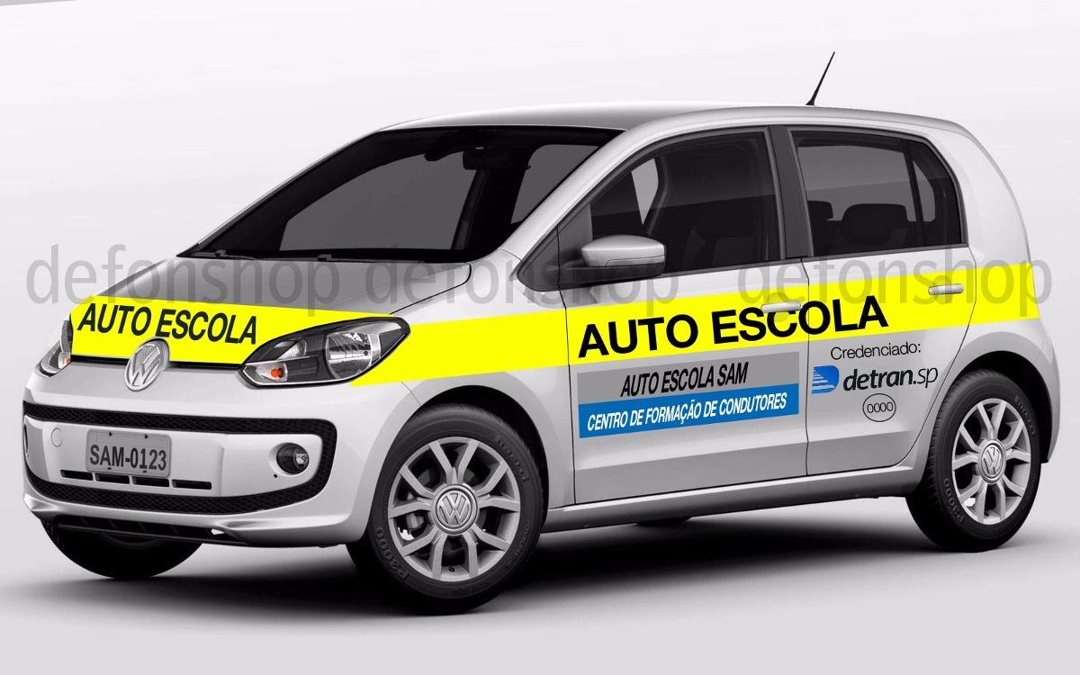 Artesanato Reciclagem Decoração ~ Adesivo Para Carro Autoescola Novo Padr u00e3o Detran Sp R