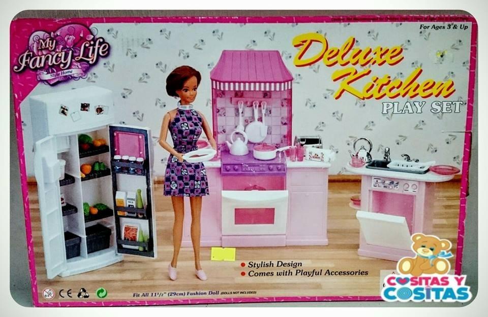 Mueble Para Casa De Muñecas Barbie Cocina Mediana 9986 ...