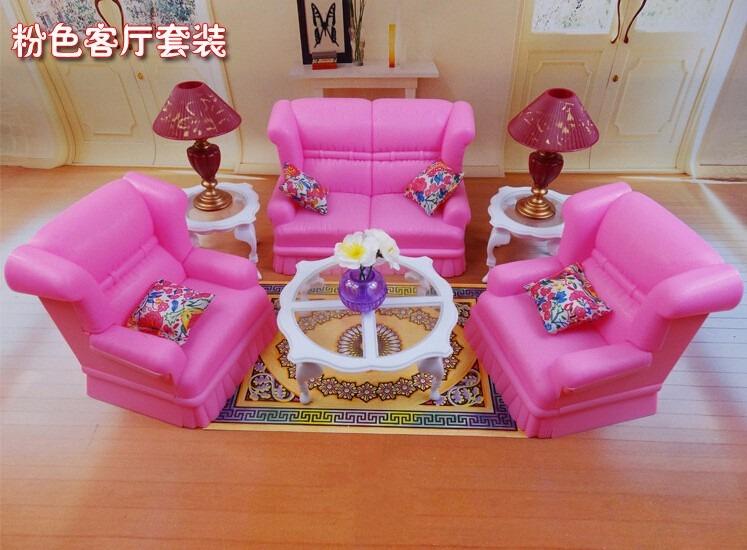 Mueble Para Casa De Muñecas Barbie Sala Grande Casual - $ 334.00 en ...