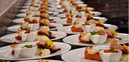 para catering, salada