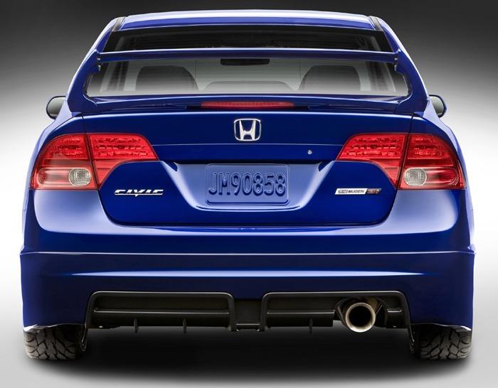 Superior Para Choque Honda Civic Si Mugen Em Fibra Sem Pintar
