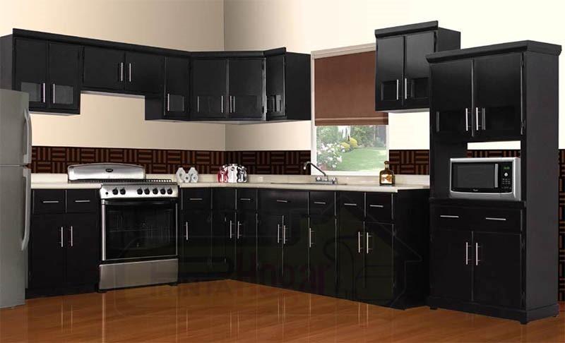Tarja doble fregadero para cocina integral madera granito for Cocinas enchapadas