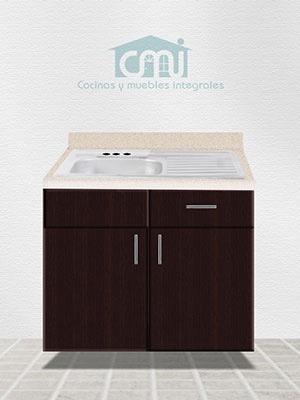 Mueble fregadero de 1 metro para cocina integral 3 650 for Muebles de cocina de 2 metros