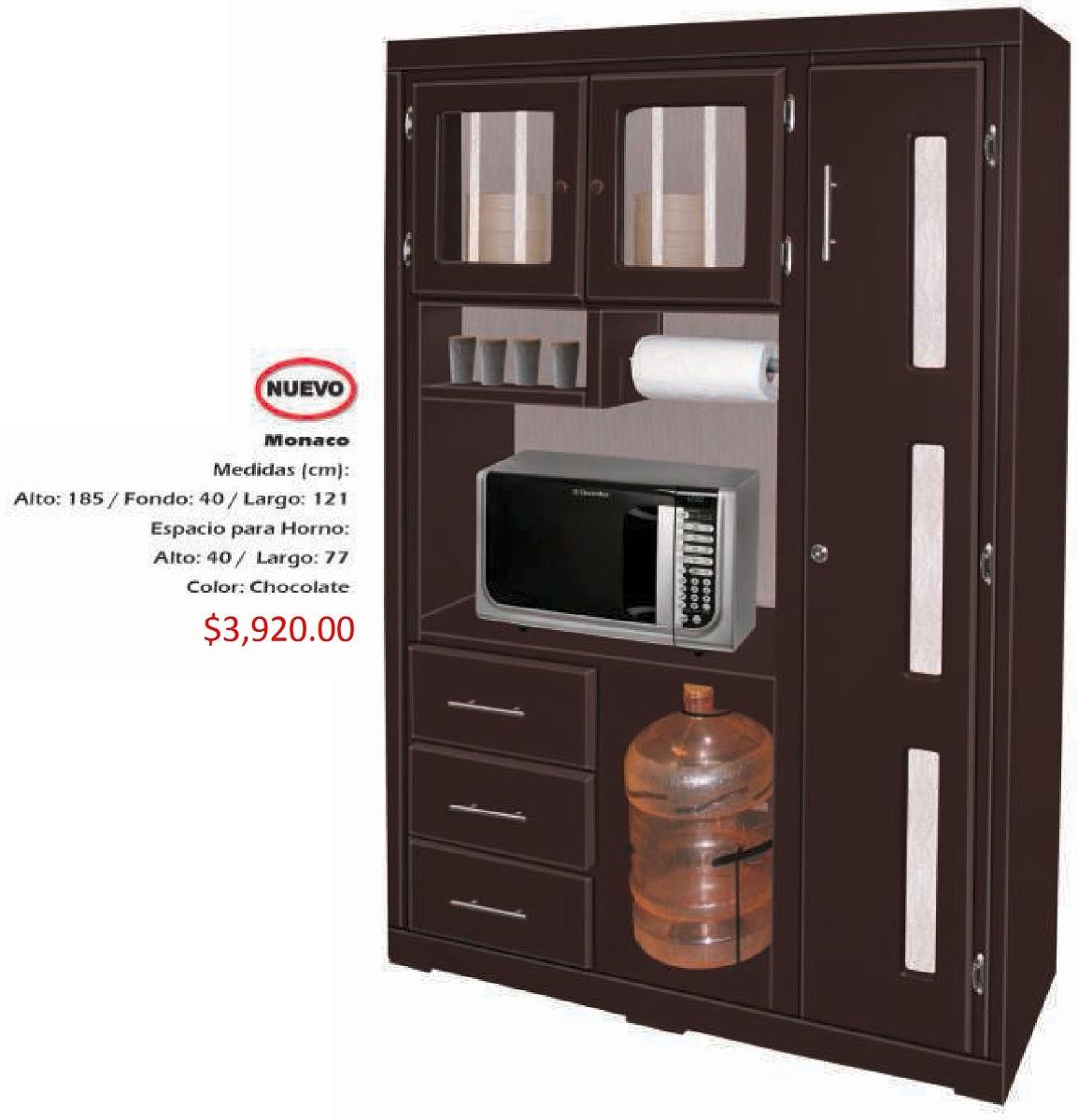 Mueble para cocina modelo monaco 3 en mercado libre for Muebles plateros cocina