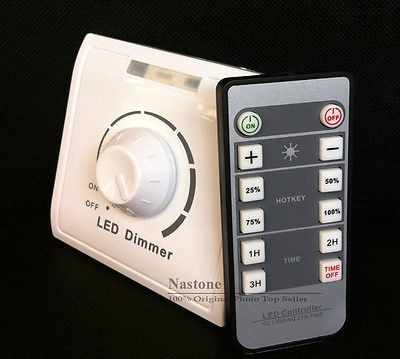 IR Dimmer switch for led//halogen lamp infrared remote control adjust the freely