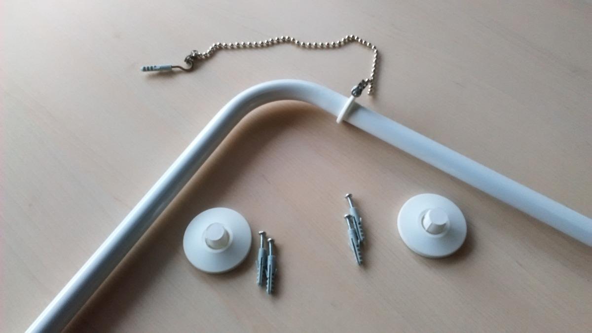 Barras para cortina de ba o angular blancas 1x2 mt 3b en mercado libre - Cortina bano curva ...
