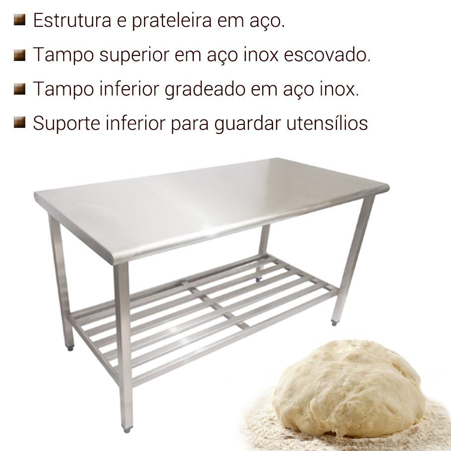 Mesa De Inox Para Cozinha Industrial 1 20 M Imeca R 910 00 Em