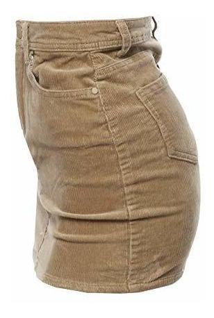 a00cab988 Para Dama Awesome21 Minifalda Lapiz Talle Alto Pana Amz