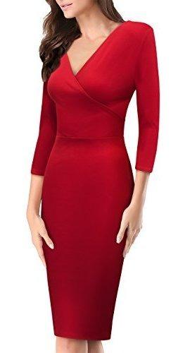 Para Dama Hybrid Company Vestido Debajo Rodilla Cuello Amz