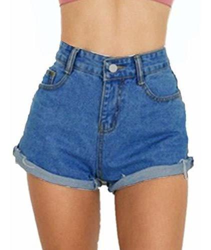 para dama pantalone corto cintura alta dobladillo