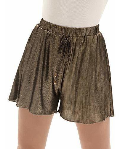 para dama pantalone corto cordon cintura elastica