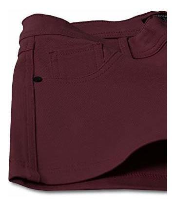 para dama pantalone corto elastico liso
