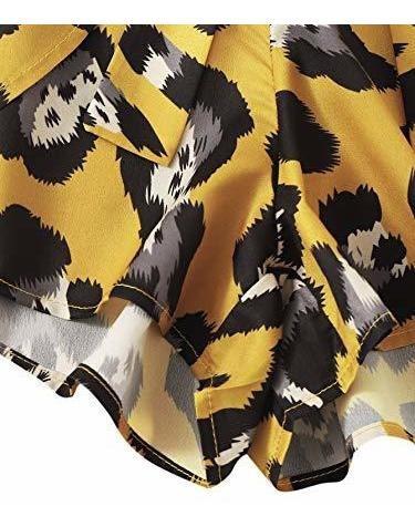 para dama pantalone corto estampado floral cintura