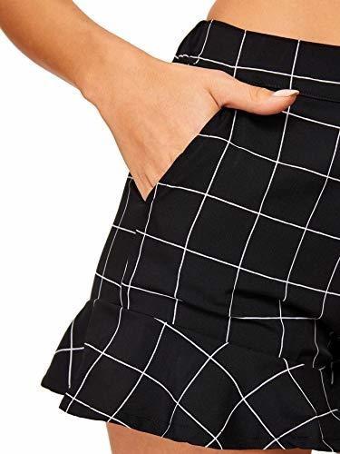 para dama pantalone corto verano bolsillo botone parte