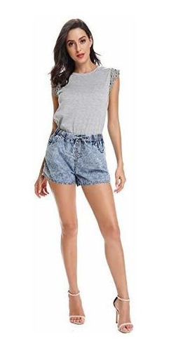 para dama pantalone jeans verano informal elastico