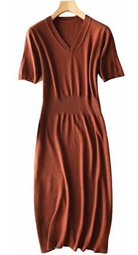 para dama ranrui vestido sueter plisado manga larga