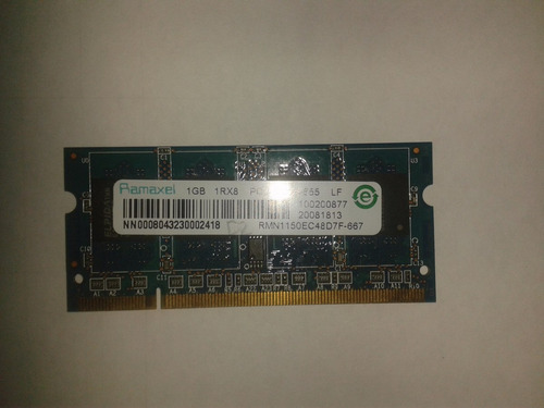 para ddr2 1gb memoria ram