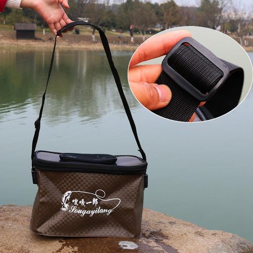 para deporte pesca pece vivo cubo plegable agua cebo caja