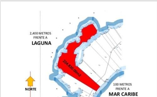 para desarrolladores terreno en tulùm con frente de mar y  laguna