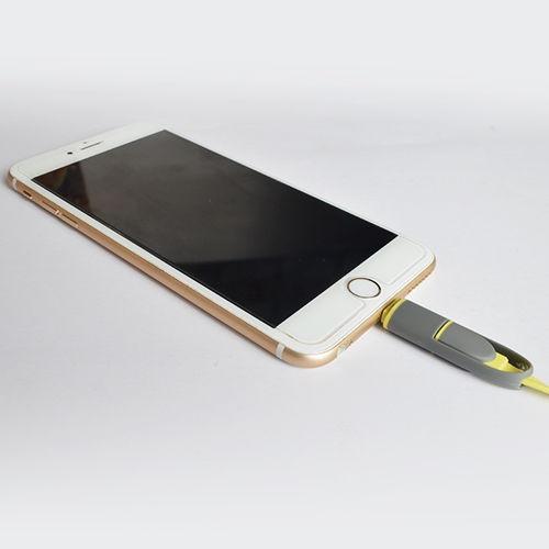para el iphone samsung 2 en 1 usb carga cable lightning micr