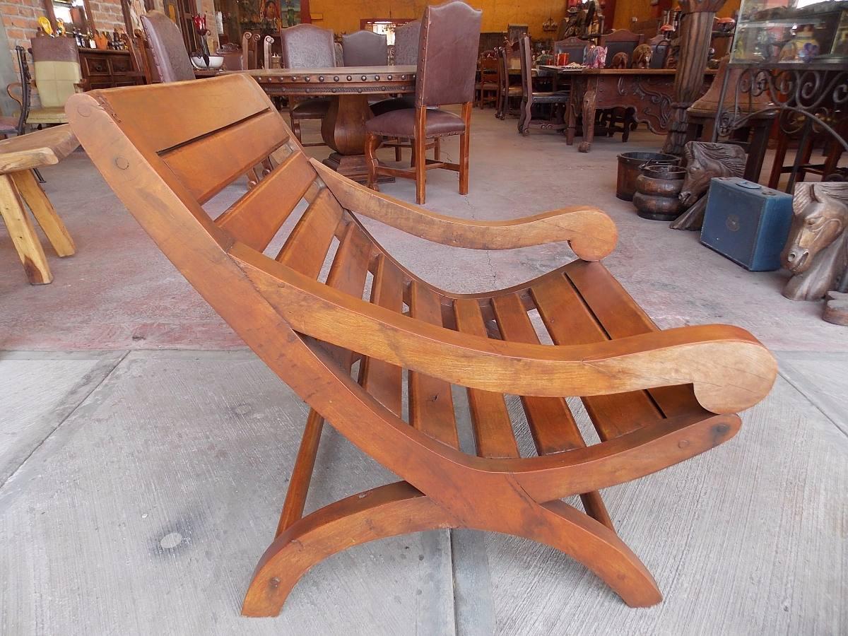 Mueble para alberca exterior sillon miguelito de mezquite for Muebles de exterior mexico