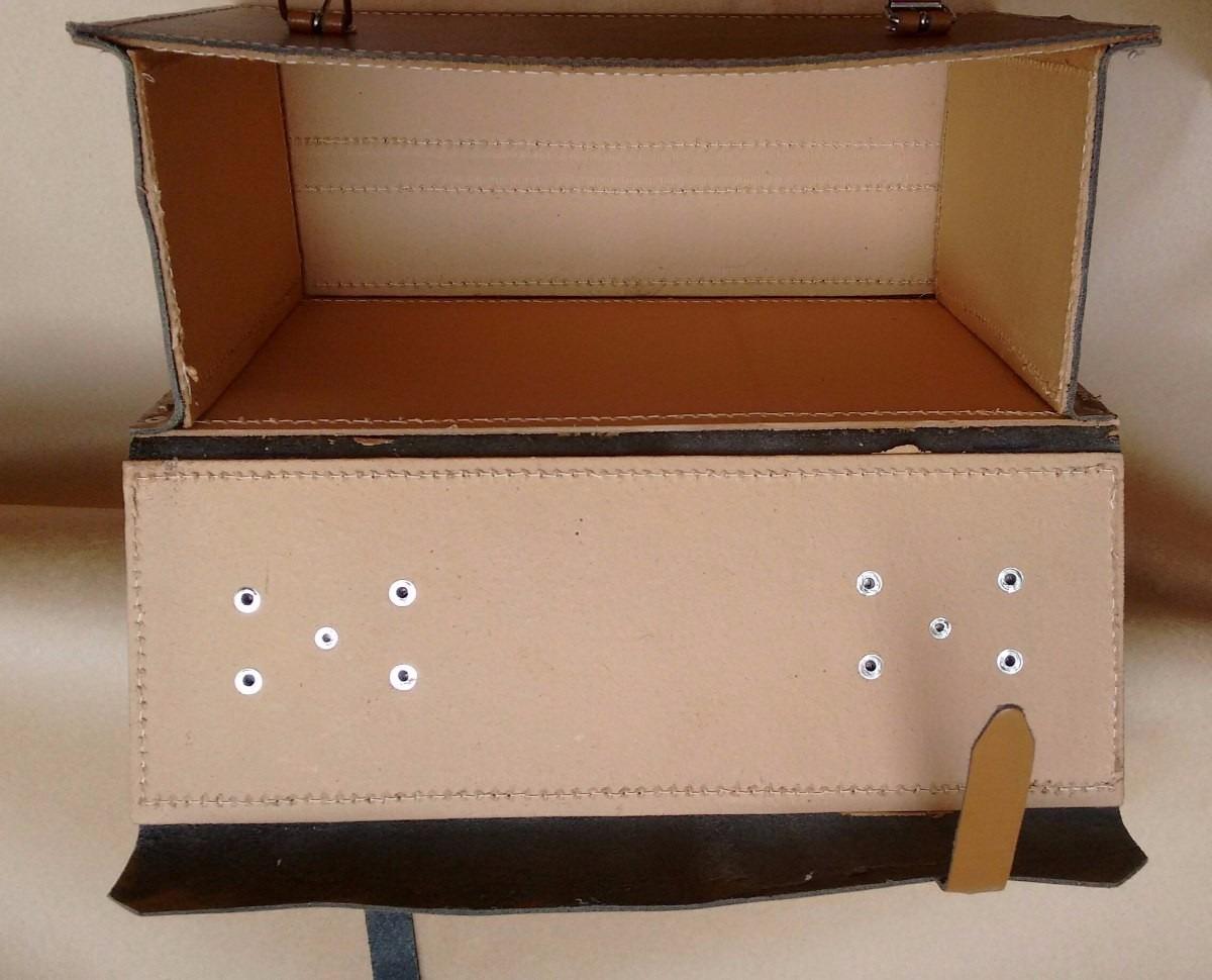 Bolsa Em Couro Para Ferramentas : Bolsa maleta de couro para ferramentas marrom r