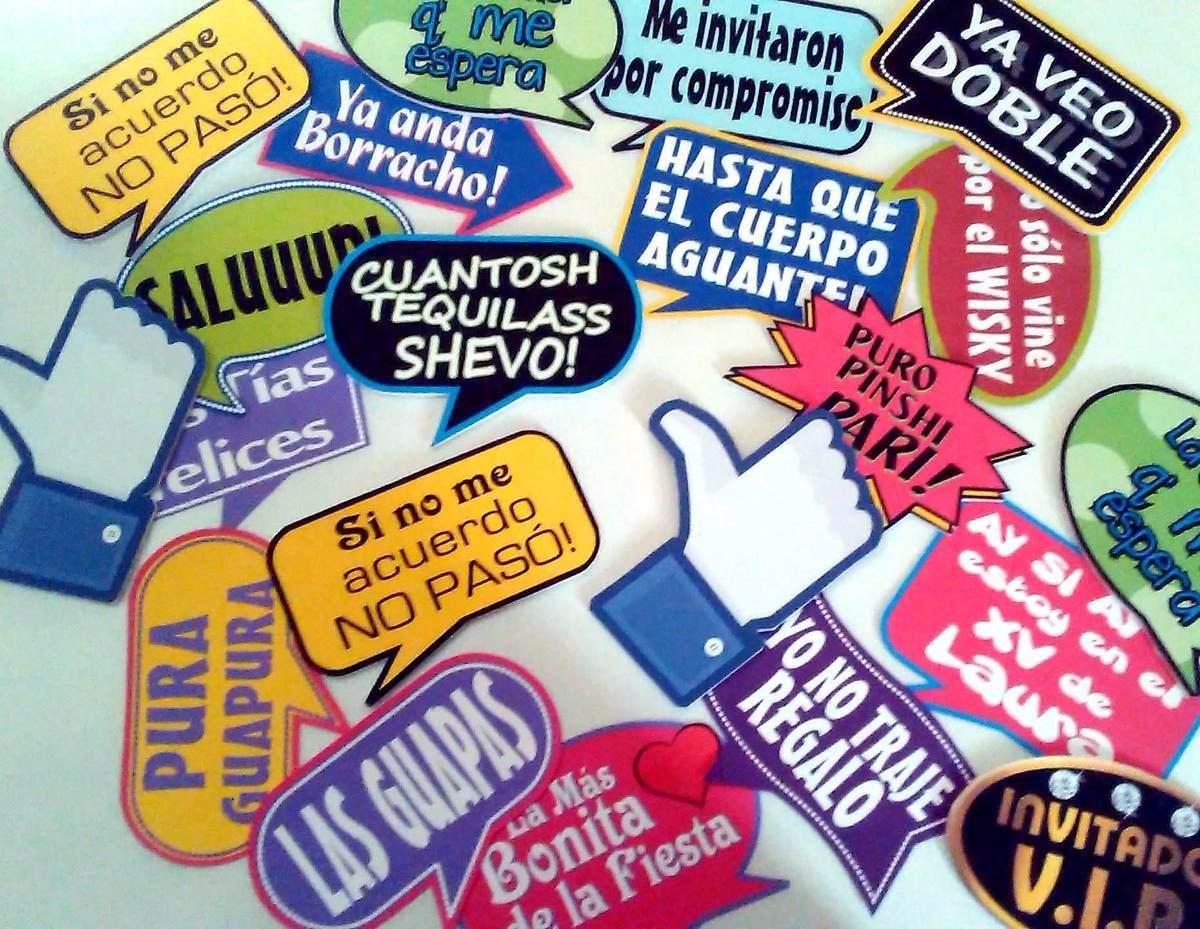 Kit de letreros para fiestas en mercado libre - Como hacer un photocall cumpleanos ...