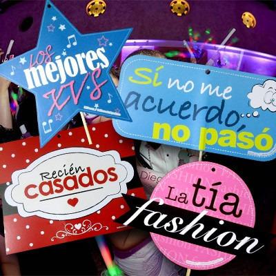 para fiestas, letreros