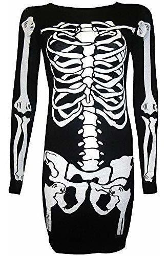 para g y pl disfraz de halloween para mujer esqueleto divert