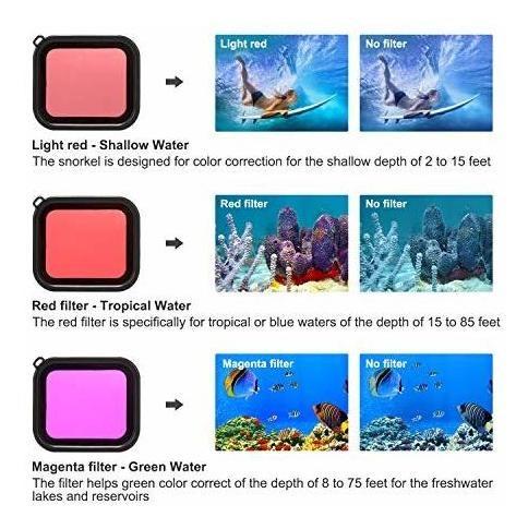 para gopro deyard estuche impermeable hero 7 color