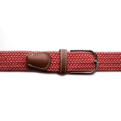Para Hombre Elastico Cinturon Elastico Con Hebilla De Plata ... 0278e13d2f6a