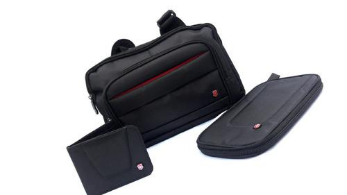 para hombres bolso victorinox incluye cartera y organizador