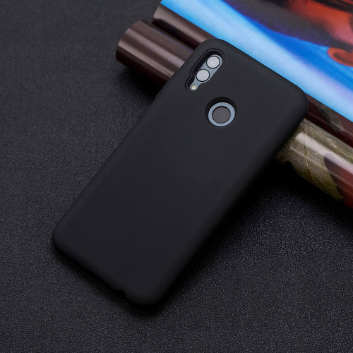 para huawei p smart 2019 3 en 1 moda candy color pc+ silicon