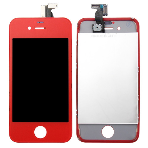 para iphone 4 cdma repuesto 3 in 1 lcd frame touch verde