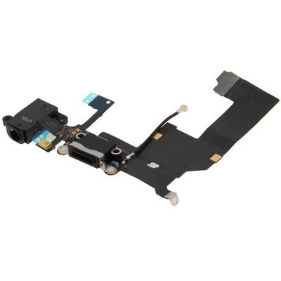 para iphone 5 repuesto flex cable tail connector negro