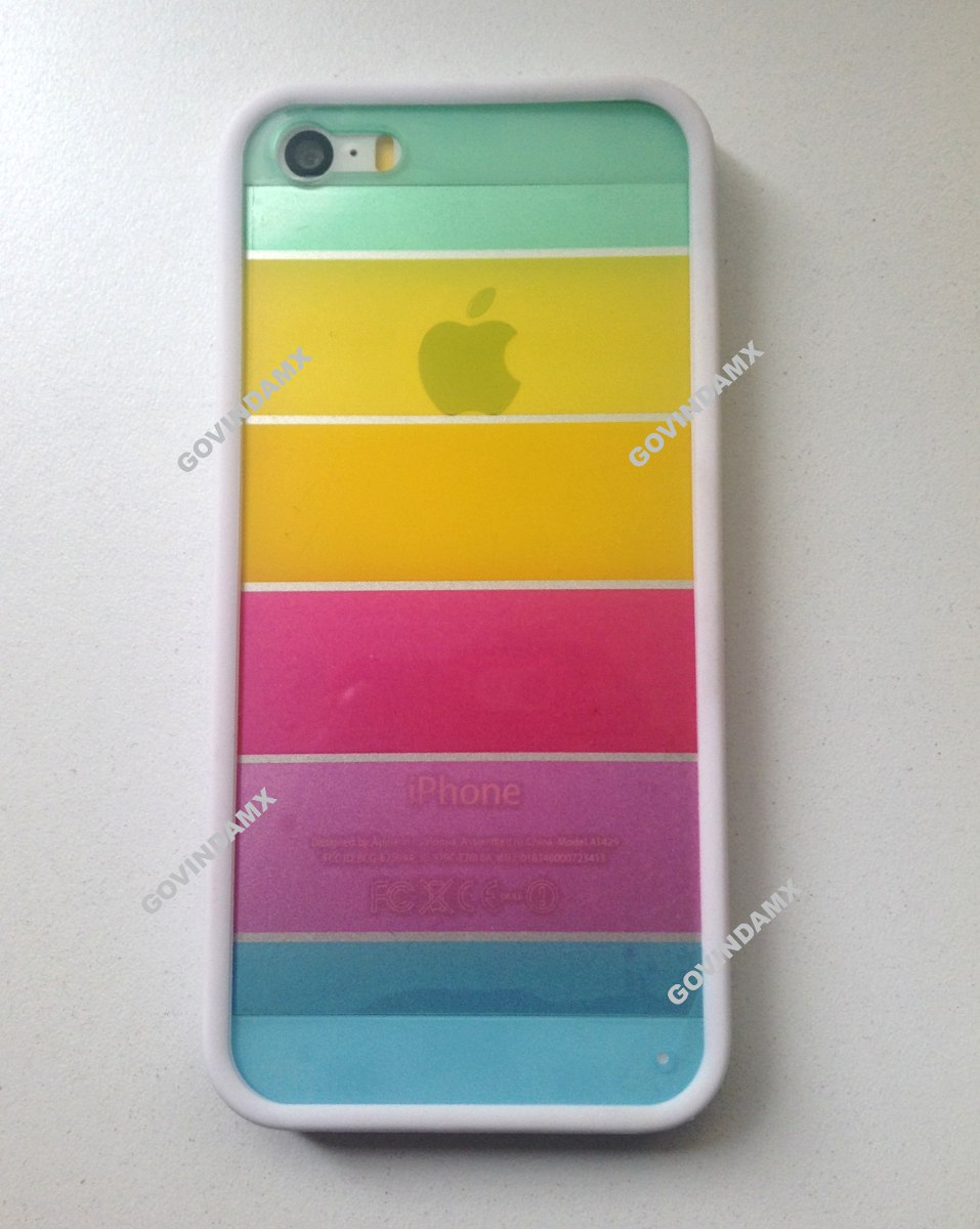 Funda arcoiris acrilico para iphone 4 4s 5 5s 6 y 6 plus en mercado libre - Fundas iphone 4 4s ...