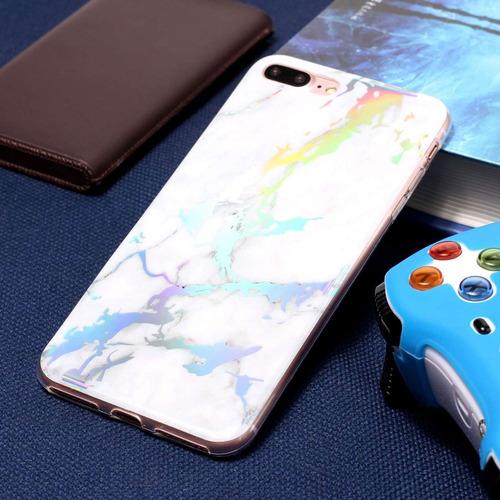 para iphone plus 8 7 volver funda protectora suave azul